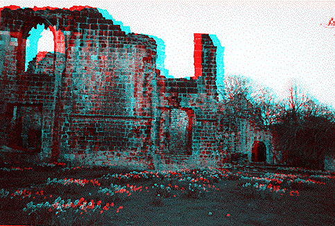 3D  picture of abbey ruin